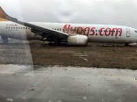 Trabzon'da pistten çıkan uçak pideci oluyor