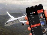 THY'den uçaklardatelevizyon programı uygulaması