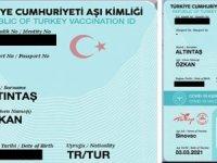 """""""TC Aşı Kimliği"""" yazan Covid 19 pasaportumu internetten aldım."""