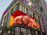 Çin'de 3 boyutlu reklamlar insanları korkutmaya başladı