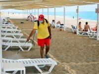 Manavgat'ta halk plajı ve mesire alanları dezenfekte edildi