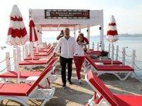 Side Antik Kent'tinde halk için iki Nar Beach Plajı açıldı