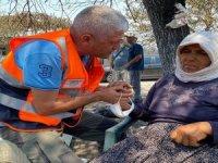 Manavgat'ta yangında evleri yananlara psikososyal destek