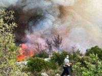 Antalya'da ki havadan yangın söndürme gücüMuğla'ya aktarıldı
