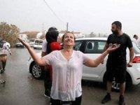 Yangından sonra Manavgat'a yağan yağmur soğutmaya yetişti