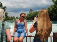 Rusların hatıra fotoğraflarını Antalya'nın şelaleri süslüyor