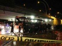 Bodrum–Ankara otobüsü yandı, 1 kişi öldü 3'ü ağır 20 yaralı