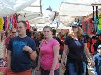Alman turistler geldi; esnafın yüzü güldü