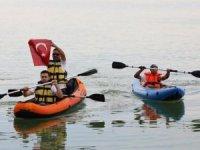 Avrupa Spor Haftası'ndaTödürge gölünde kanolar yarıştı