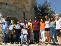 Kapadokya'da KEYDER'li engelli çocukların suları açıldı
