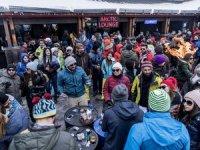 Erciyes Kayak Merkezi zirvesi Jabbar'la coştu!