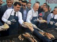 Balık Festivali'nde 20 bin balık dağıtıldı