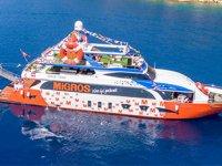 Migros denizde hizmet veriyor