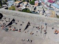 Erzurum Kalesi'nde kazı sürüyor