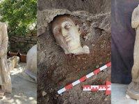 Side'de iki Roma heykeli bulundu