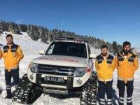 Uludağ oteller bölgesinde 112 ekipleri kışa hazır