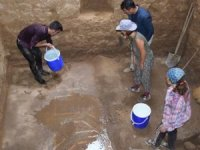Gazipaşa'daki antik kentte mozaik zemin bulundu
