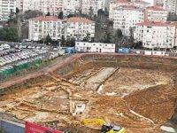 Khalkedon'da 21 katlı otel inşaatının yerinde inceleme