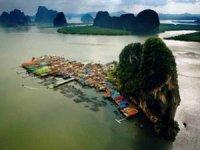 Tayland'ın yüzen köyü Ko Panyi bu kış turiste doydu