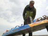 Dunnett, sörf tahtası ile Norveç'ten Kastamonu'ya ulaştı