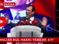 İBB Başkanı İmamoğlu: Ramazan kul hakkı yememe ayı
