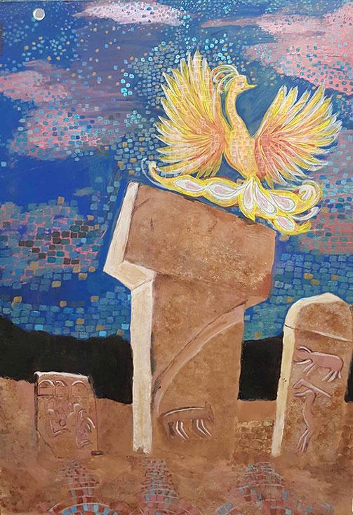 SEDEF YAVUZALP GÖBEKLİTEPE  MOZAİK ESİNTİSİ ile ilgili görsel sonucu