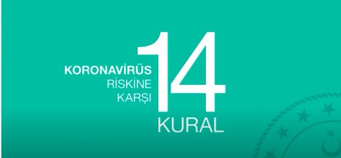 Sağlık Bakanlığı'nın korona virüse karşı 14 kuralı